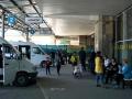 Bussteg für die Busse nach Bischkek am Busbahnhof in Almaty