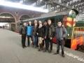 Gruppenbild am Kasaner Bahnhof mit den Studenten aus Samara