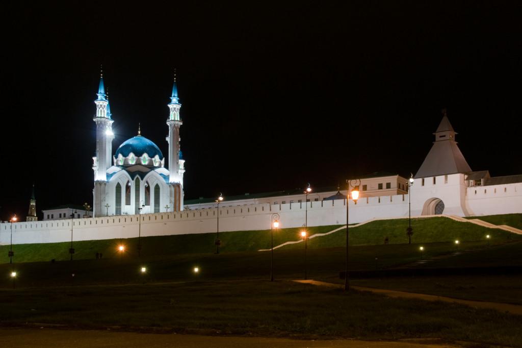 Der Kreml von Kasan bei Nacht