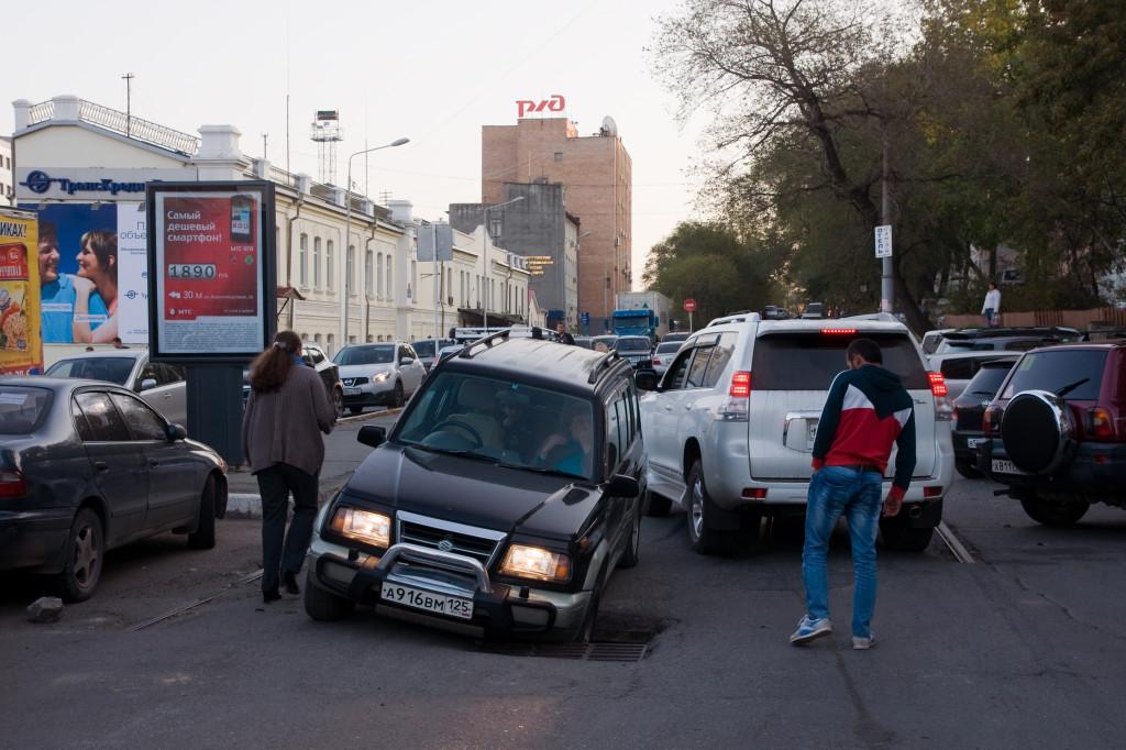 Die Straßen von Wladiwostok stecken voller Überaschungen