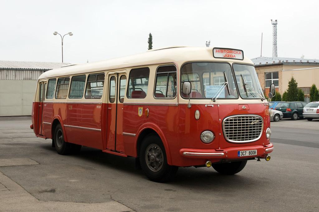 Das Museumsfahrzeug der Budweiser Verkehrsbetriebe