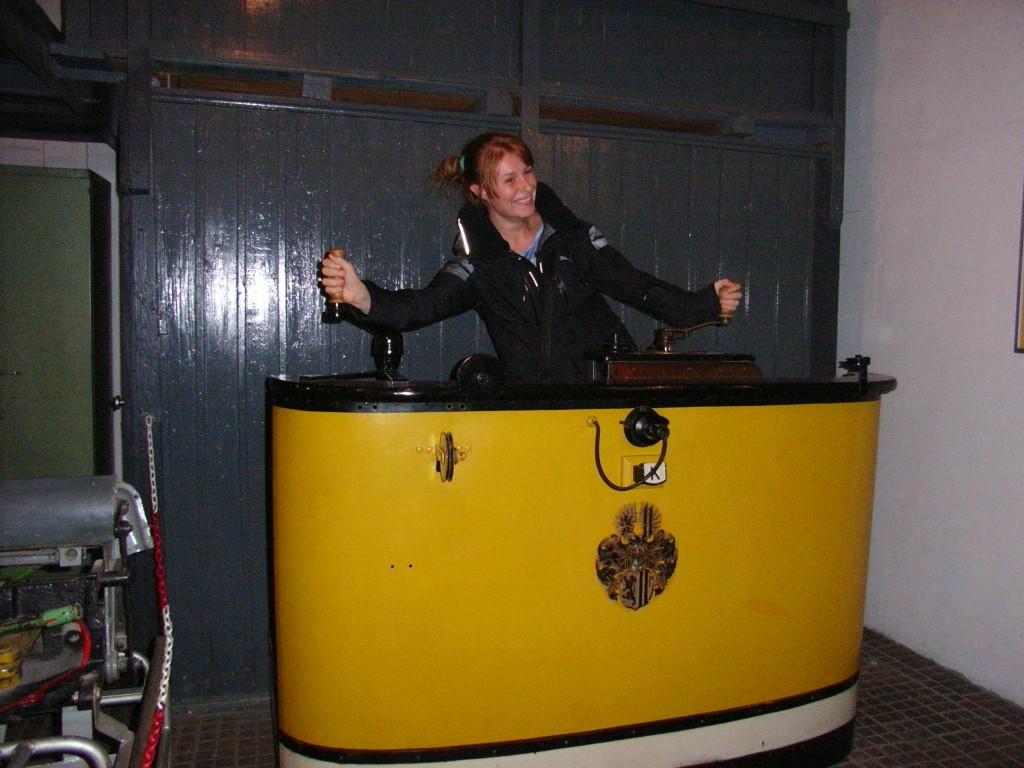 Ausklang der Exkursion im Straßenbahnmuseum Dresden