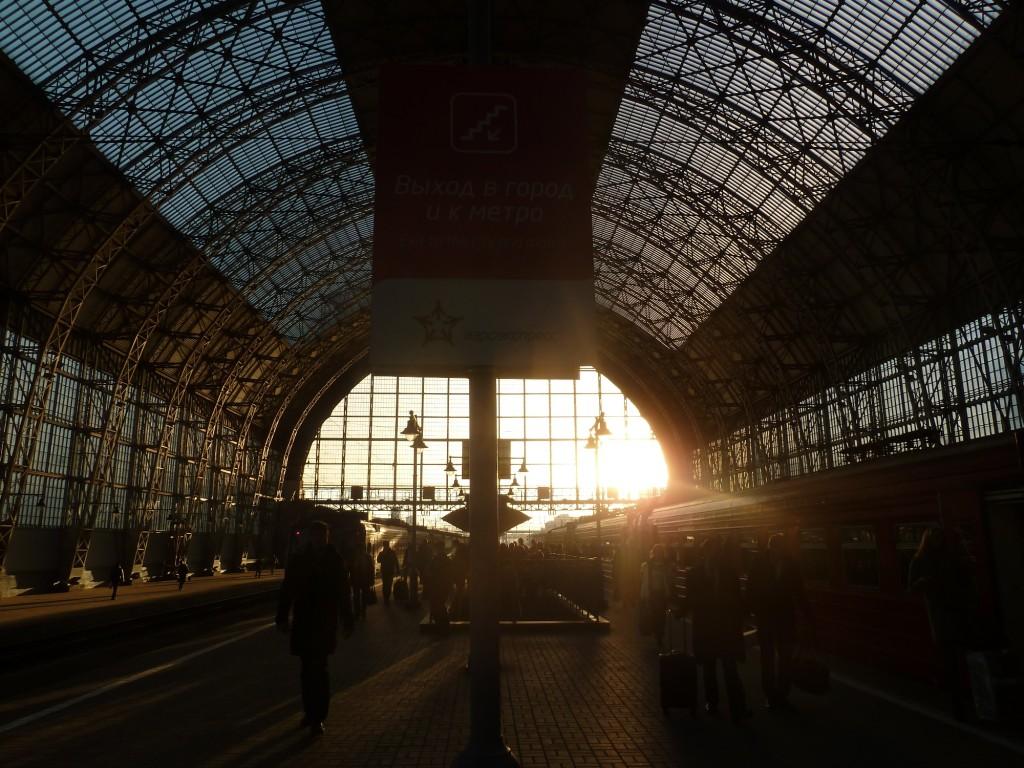 Ankunft am Kiewer Bahnhof