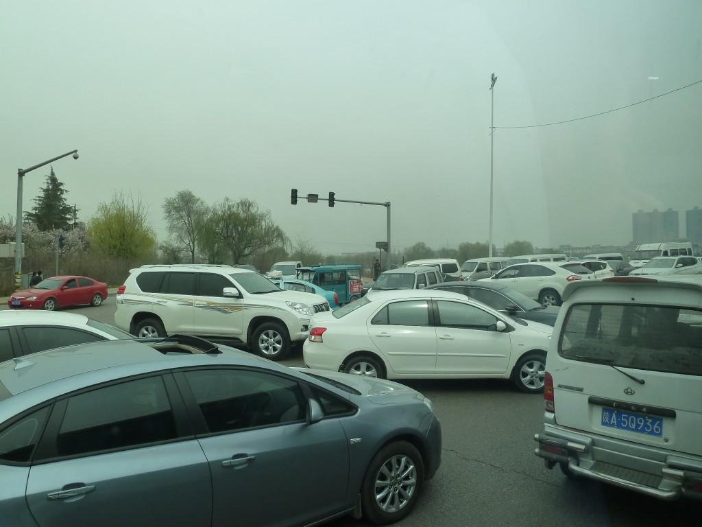 Ein normaler Verkehrstag in Xian...