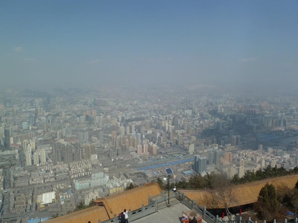 Ausblick hoch über Lanzhou