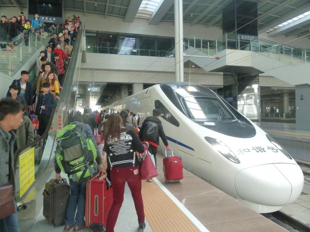 HSR-Bahnhof in Lanzhou