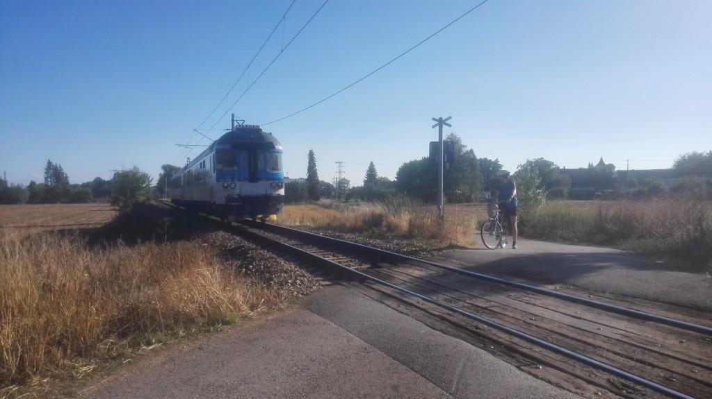 Radweg kreuzt Bahn