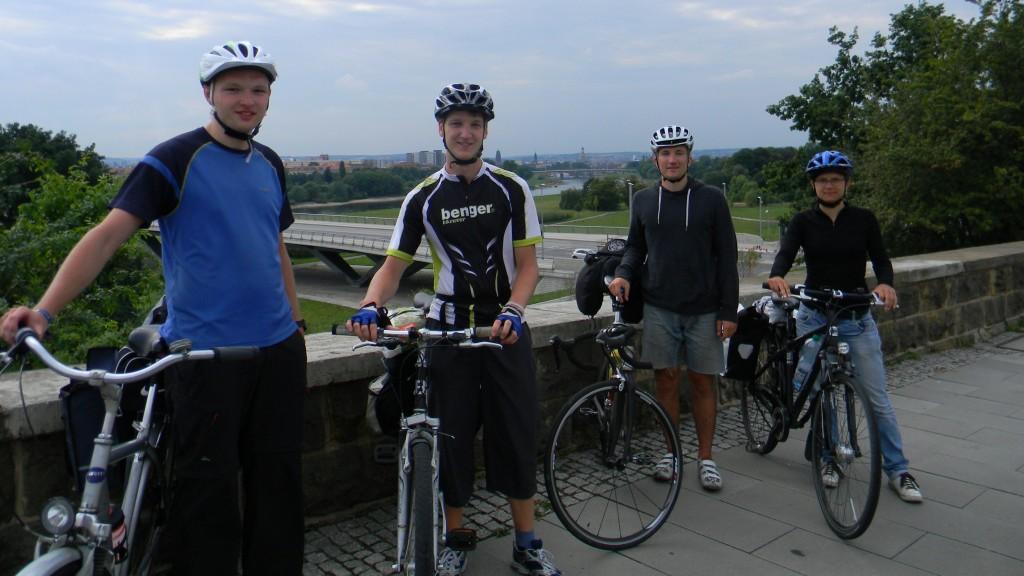 Ankunft in Dresden