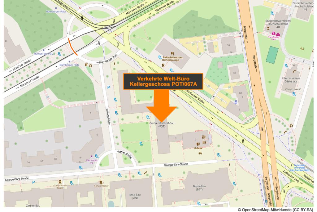 Karte Verkehrte Welt Büro Stand: 11/2015