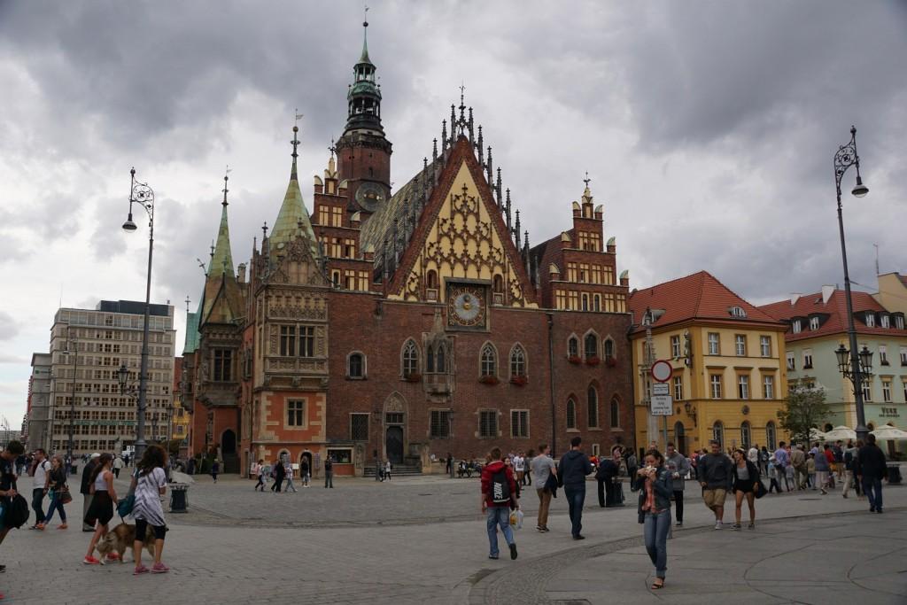 Die Zeit reicht für einen kurzen Besuch der sehenswerten Altstadt von Breslau.