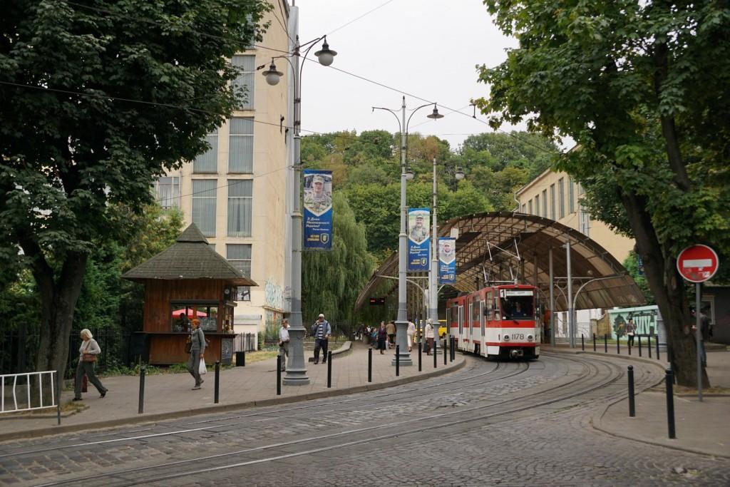 In der Lemberger Innenstadt.