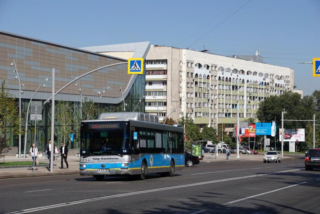 In der modernen Innenstadt von Almaty