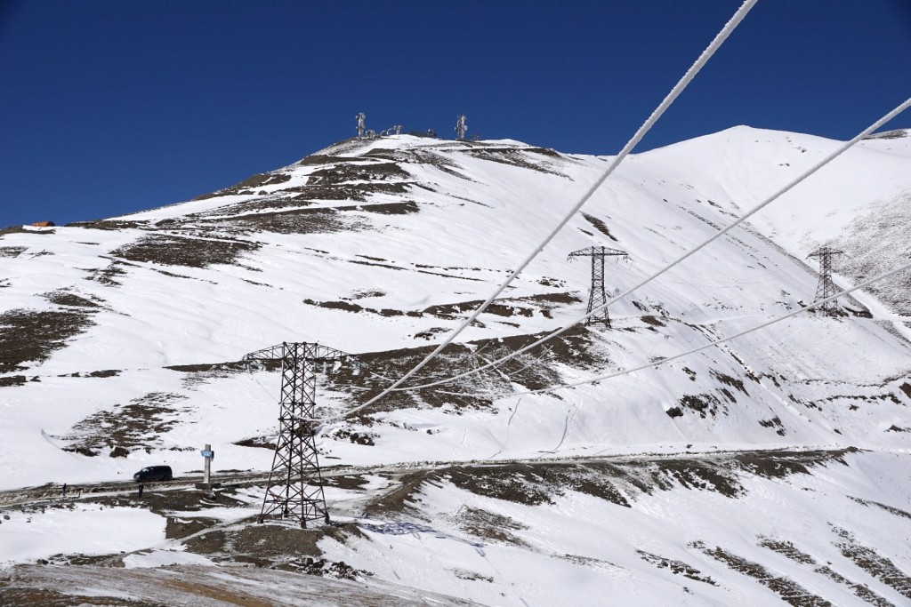 Schnee auf dem dritten 3.000er-Pass in drei Tagen