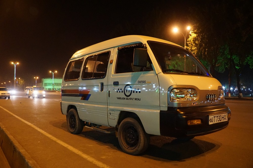 Der Dimas, das Hauptverkehrsmittel im ÖPNV Andischans
