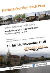 Plakat Herbstexkursion 2016 nach Prag