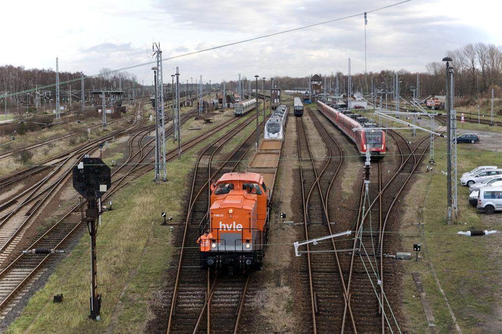 Rangierabteilung im Rail Logistik Center (RLC) Wustermark