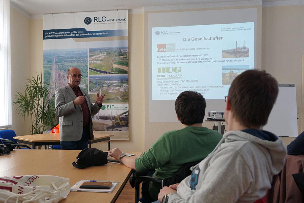 Vorstellung des RLC Wustermark durch den Geschäftsführer Winfried Bauer