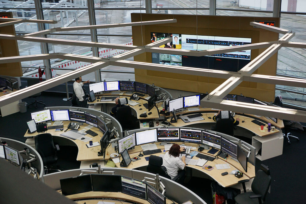 Neue Leitstelle Friedrichsfelde der Berliner Verkehrsbetriebe BVG