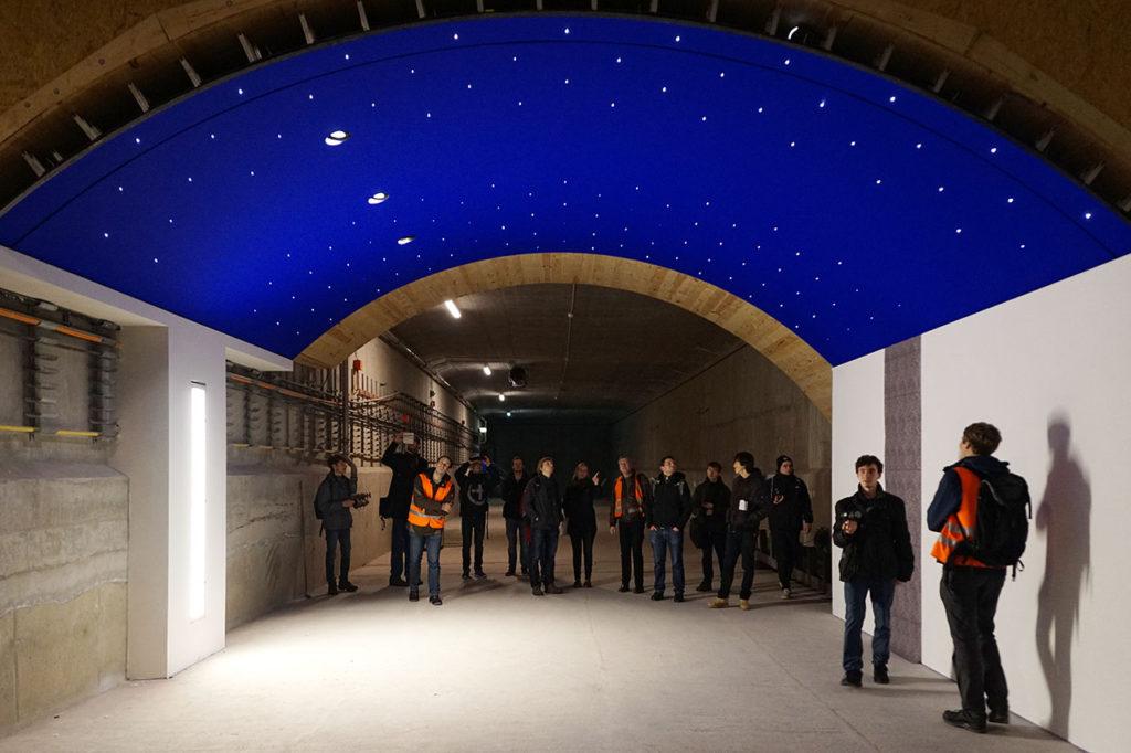 Versuchsaufbau der Deckenkonstruktion für eine Station der künftigen U 5