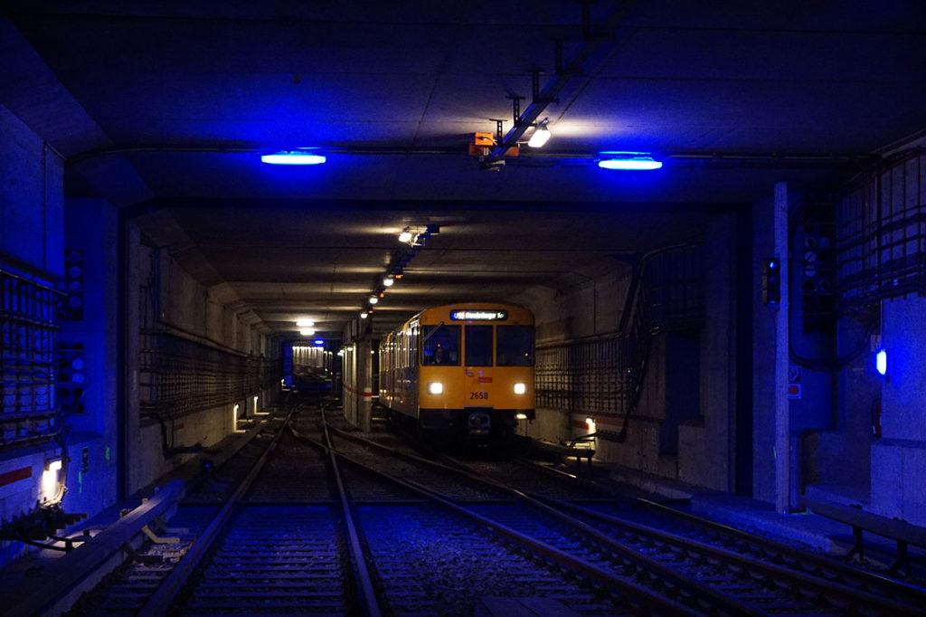 Spreeunterquerung der U 55 zwischen der Station Hauptbahnhof und Bundestag
