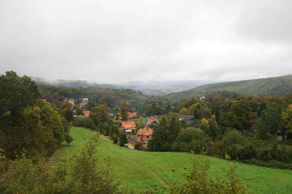 Blick auf Oberschreiberhau im Riesengebirge auf polnischer Seite