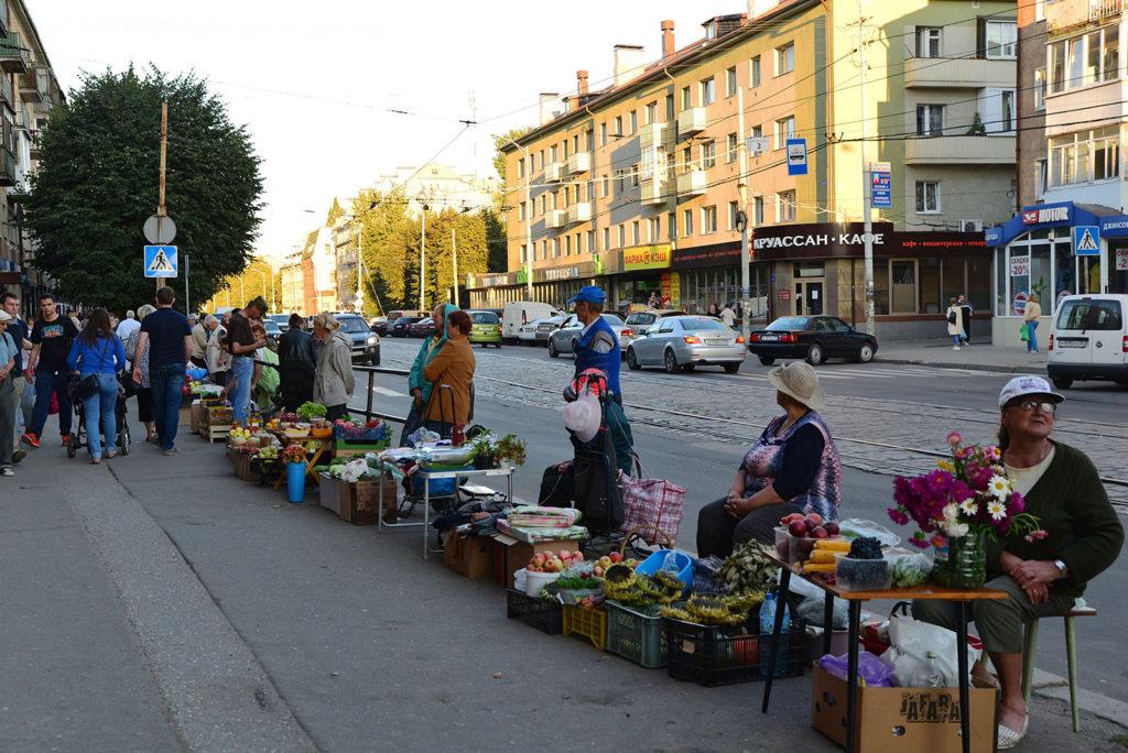 Straßenhändler in Kaliningrad