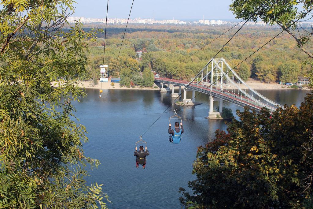 Seilbahn über den Dnepr