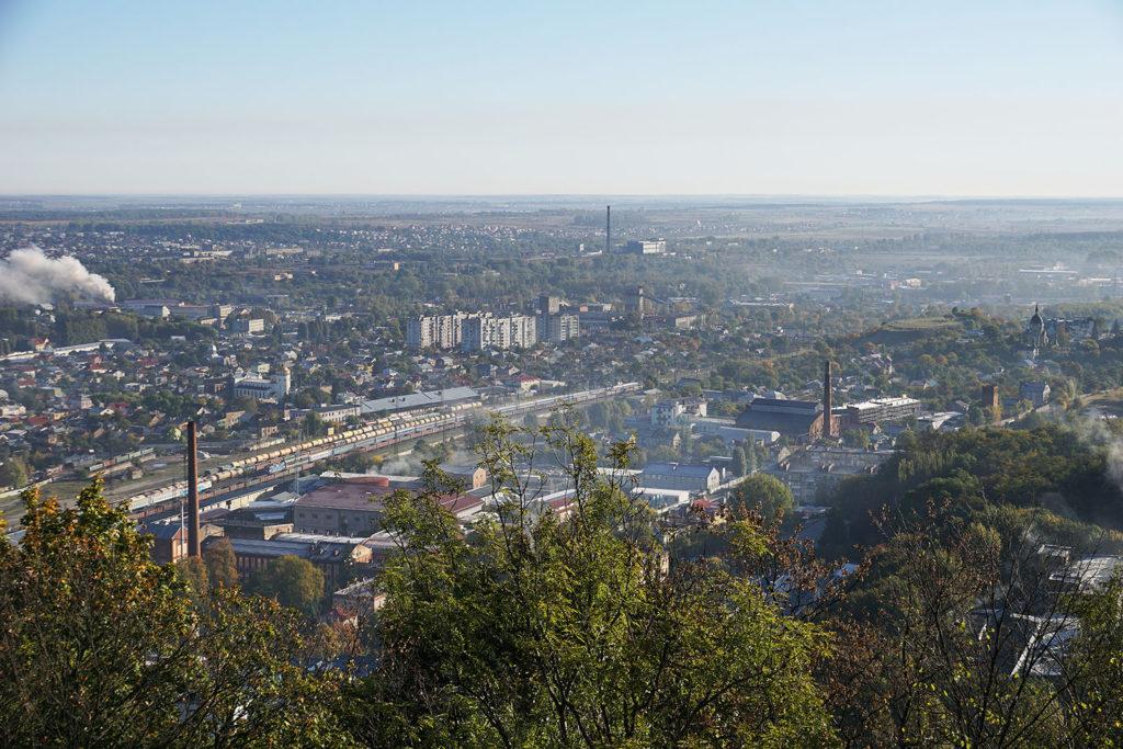 Blick vom Lemberger Hausberg auf den Westteil der Stadt