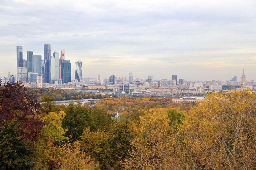 Moskau von den Sperlingbergen aus gesehen