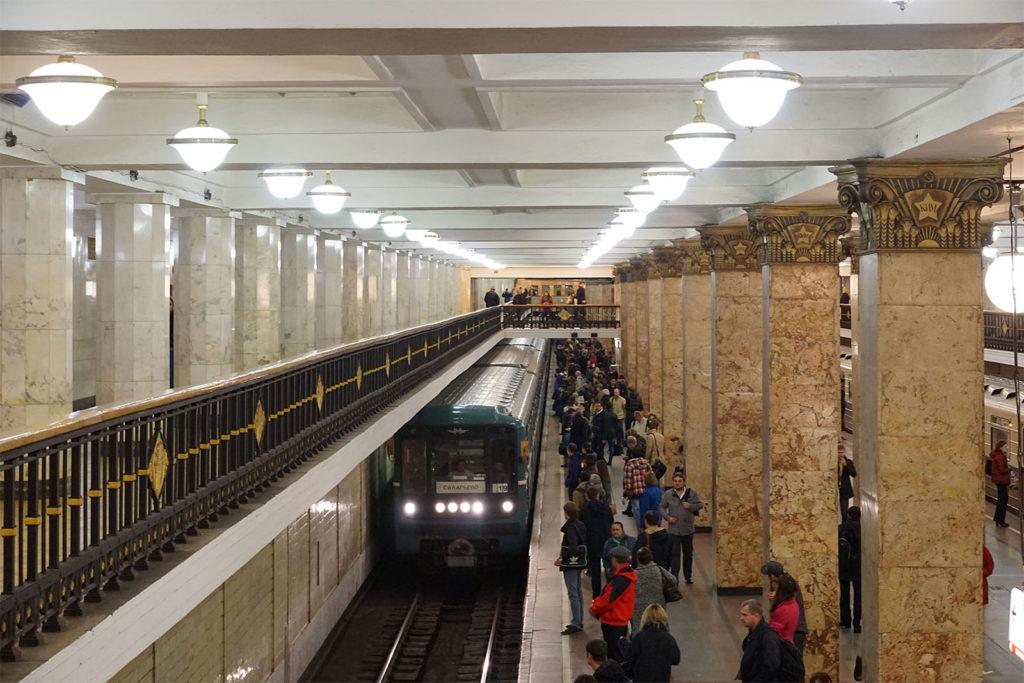 Metro Moskau an der Station Komsomolskaya-Platz