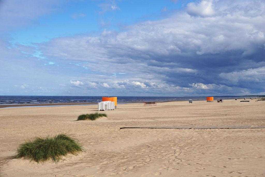 Am Strand in Riga