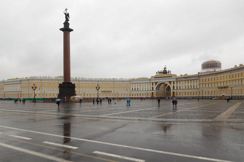Eines der vielen Schlösser in St. Petersburg