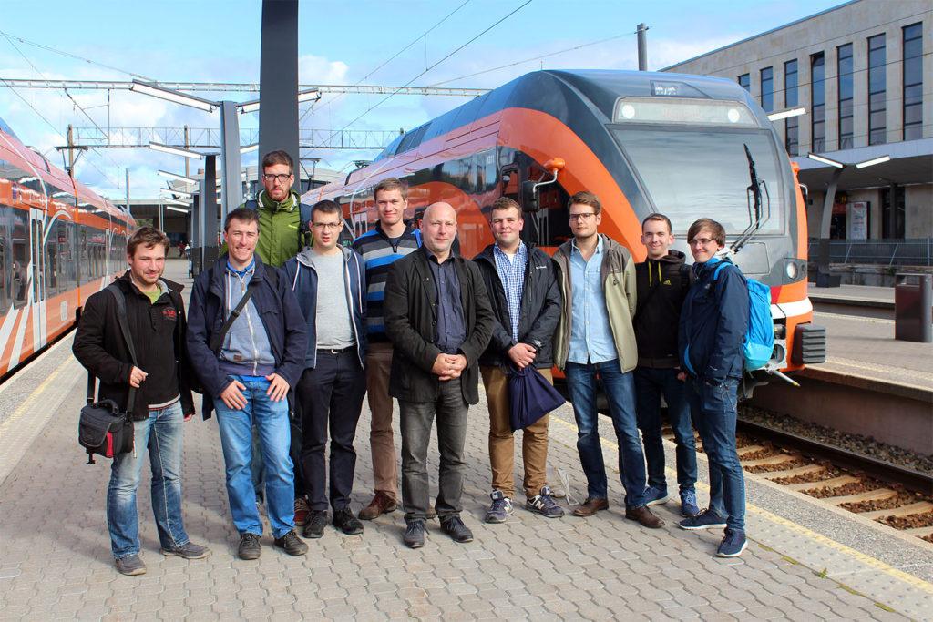 Unterwegs mit dem EU-Beauftragten der Stadt Tallinn am modernisierten Baltischen Bahnhof