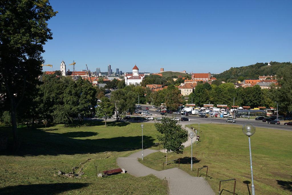 Blick auf die Innenstadt von Vilnius