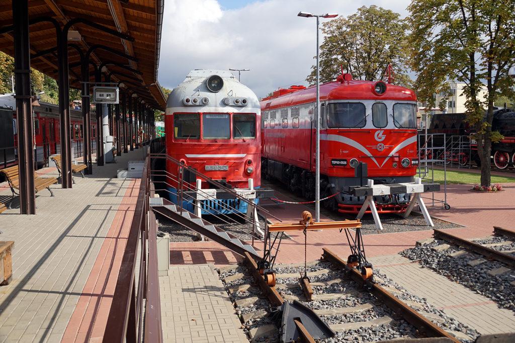 Im Außenbereichs des Vilniuser Eisenbahnmuseums