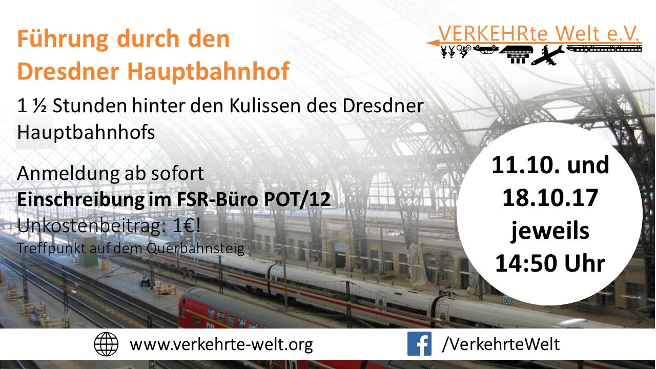 Führung durch den Dresdner Hauptbahnhof